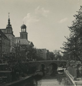 Pays Bas Utrecht vieux canal ancienne photo stereo NPG 1900
