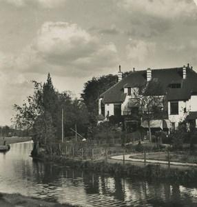 Pays Bas Utrecht jardins du monastere ancienne photo stereo NPG 1900