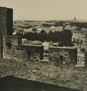 France Carcassonne panorama ancienne photo stereo NPG 1900
