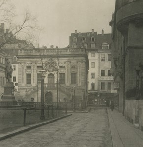 Allemagne Leipzig Haute Bourse ancienne photo stereo NPG 1900