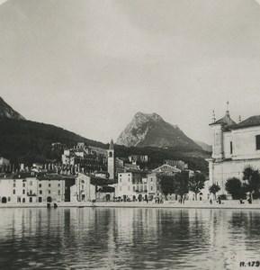 Italy Lake Garda Maderno Old NPG Stereoview Photo 1900