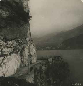 Italy Lake Garda Ponale Street ld NPG Stereoview Photo 1900