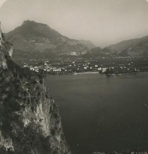 Italy Lake Garda Riva panorama Old NPG Stereoview Photo 1900