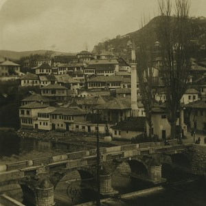Bosnia Sarajevo Šeher-Cehaja Bridge Old NPG Stereoview Photo 1900