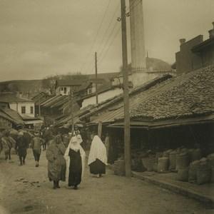 Bosnia Sarajevo Turkish Women in Carsija Old NPG Stereoview Photo 1900
