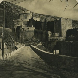Croatia Dubrovnik Dalmatia Ragusa Fort Minceta Old NPG Stereoview Photo 1900 #1