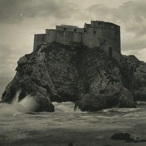 Croatia Dubrovnik Dalmatia Ragusa Fort Minceta Old NPG Stereoview Photo 1900 #2
