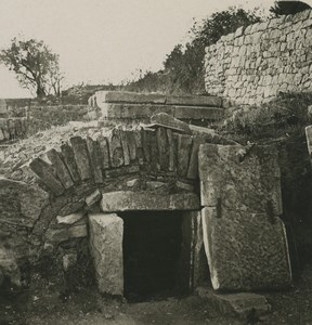 Croatia Dalmatia Salona Ruins Shaft Graves Old NPG Stereoview Photo 1900