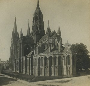 France Bayeux cathedral Old Stereoview Photo SIP 1910