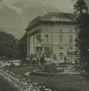 Austria Innsbruck Fountain Leopold V Old CH Graves Stereoview Photo 1880
