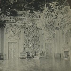 Allemagne Berlin Schloss Château Thronsaal Salle du Trone ancienne photo stereo 1900