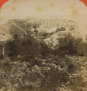 Monaco panorama Old Stereoview Photo 1880