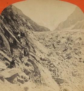 France Alps Chamonix Mauvais Pas Old Stereoview Photo Tairraz Freres 1880