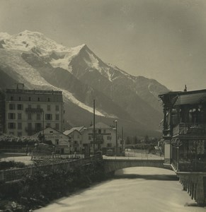 France Alps Chamonix Arve River Old Stereoview Photo Wehrli 1900