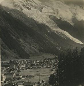 France Alps Chamonix Mont Blanc Panorama Old Stereoview Photo Wehrli 1900