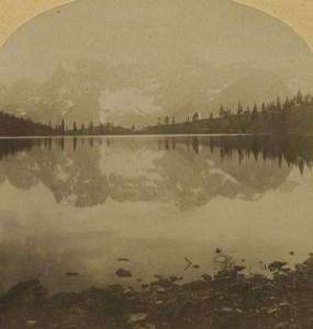Italy Ampezzo Lake Misurina Old Stereoview Photo Gratl 1880