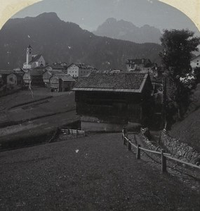 Italy Alps Colle Santa Lucia Old Stereoview Photo Gratl 1890