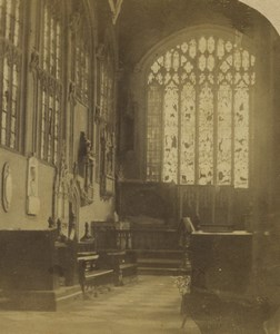 United Kingdom British Church Chapel interior Old Stereoview Photo 1860