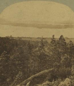 Ireland Killarney Lake & Forest Old Stereoview Photo 1860