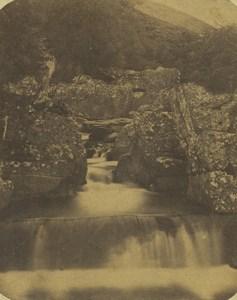Scotland Bracklinn Bridge Keltie Water Old Stereoview Photo 1860