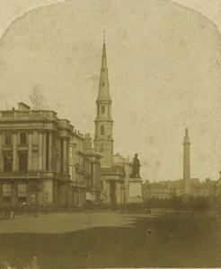 Scotland Edinburgh St Andrew's Church Monument Old Stereoview Photo 1860
