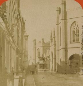 Pays Bas La Haye le Vieux Palais ancienne photo stereo 1880