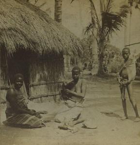 South Africa Zambezi Natives Human Types Old Stereoview Photo Kilburn 1901