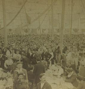 Boston Christian Endeavor Army convention Tent Williston Stereoview Photo 1895