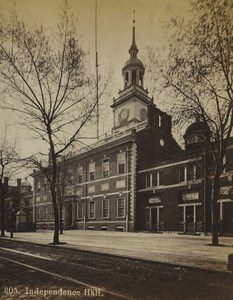 USA Philadelphia Independence Hall Old Stereoview Photo Cremer 1876