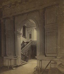USA Philadelphia Independence Hall Stairway Old Stereoview Photo Cremer 1876