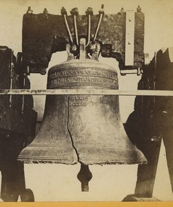Philadelphia Independence Hall Old Liberty Bell Stereoview Photo Cremer 1876