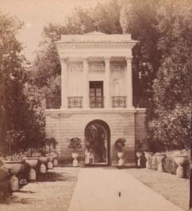 Italy Genoa Villa Pallavicini Caffe Old Stereo Photo Noack 1880