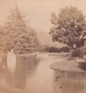 Italy Genoa Villa Pallavicini Old Stereo Photo Noack 1880