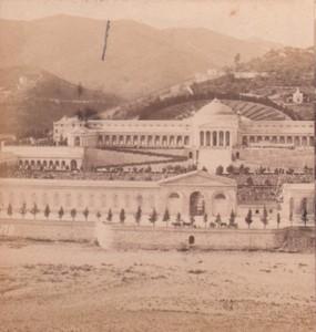 Italy Genoa Monumental Cemetery of Staglieno Old Stereo Photo Noack 1880
