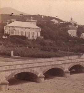 Italy Genoa Pegli Villa Mostain Old Noack Stereo Photo 1880