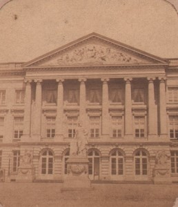 Belgium Brussels House of Representatives Old Stereoview Photo 1860