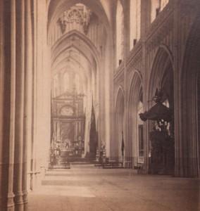 Belgique Anvers eglise Notre Dame Interieur ancienne Photo Stereo 1870