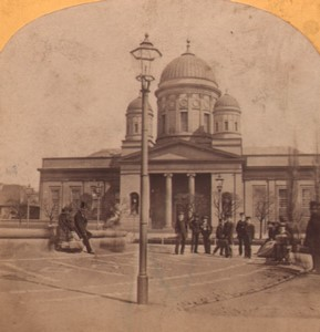 Germany Berlin Cathedral Old Stereoview Photo Moser 1870