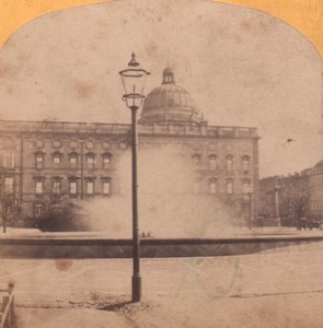 Germany Berlin Lustgarten Fountain Old Stereoview Photo Moser 1870