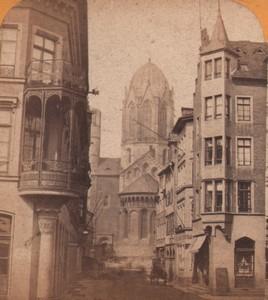 Germany Mainz Mayence Cathedrale Old Stereoview Photo Jouvin 1870