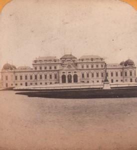 Autriche Vienne Château du Belvedere ancienne Photo Stereo Gaudin 1870