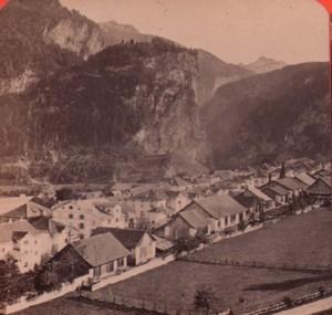 Switzerland Alps Thusis via mala Old Stereo Photo Charnaux 1880