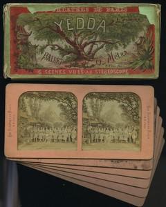 France Yedda ballet by Olivier Metra Old Block Tissue Stereoview box 1873