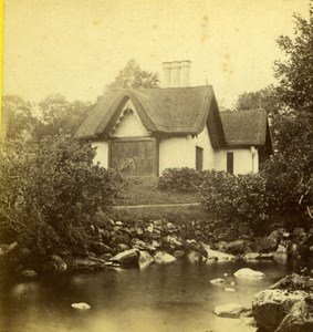 Ireland Killarney Derrycunnihy Cottage Thatched Old Photo 1870's
