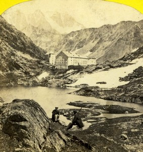 Switzerland Grand St Bernard Hospice Alpine Club Old William England Photo 1863