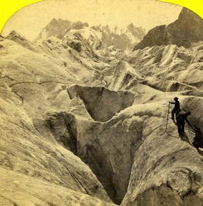 France Alpes Savoie Chamonix Mer de Glace Alpine Club William England Photo 1863