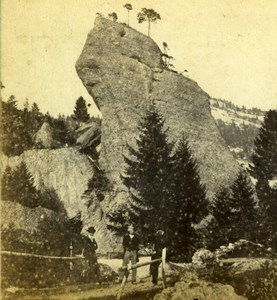 Switzerland Passage du Rocher Rigi Kaltbad Mountain Old Charnaux Photo 1870