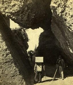Switzerland Mount Rigi Porte des Rochers Hiking Old Adolphe Braun Photo 1870