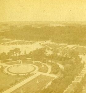 France Paris Jardin des Tuileries Garden Old Debitte Hervé Stereoview Photo 1870