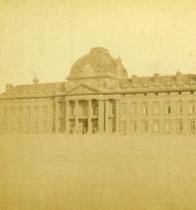 France Paris Military School Old Debitte & Hervé Stereoview Photo 1870